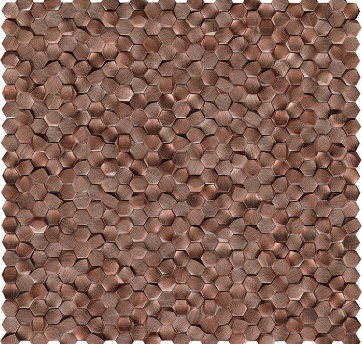 Gravity Aluminium 3D Hexagon Copper